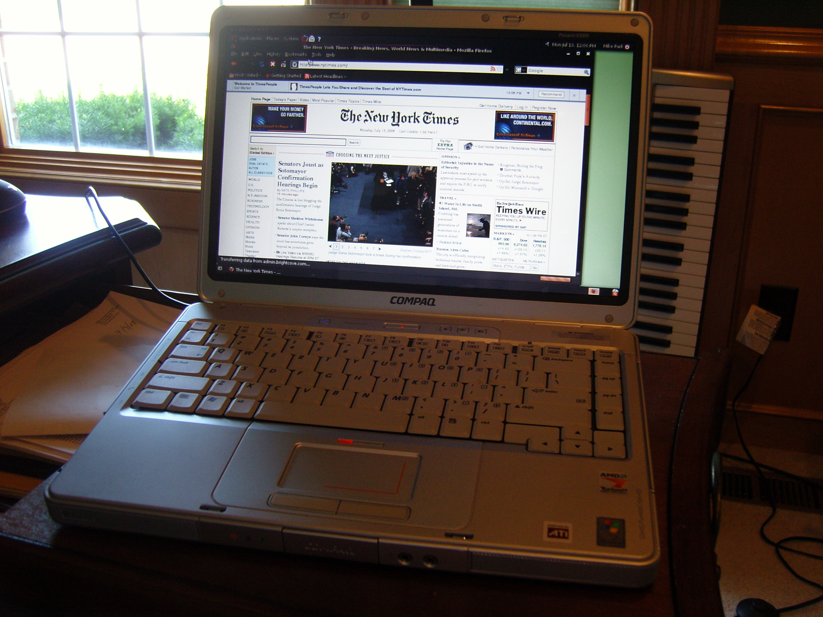 It was during last years journey from Florida to Iowa via a rented Tour Bus  that my mother's laptop finally died. It was a Compaq Presario V2000  sporting an ...